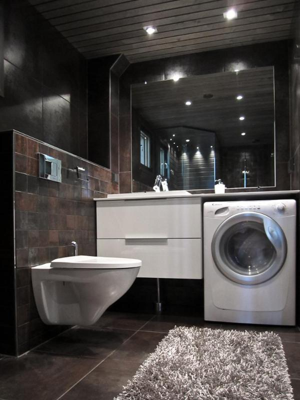 1000 images about salle de bain on pinterest for Small bathroom designs with washing machine